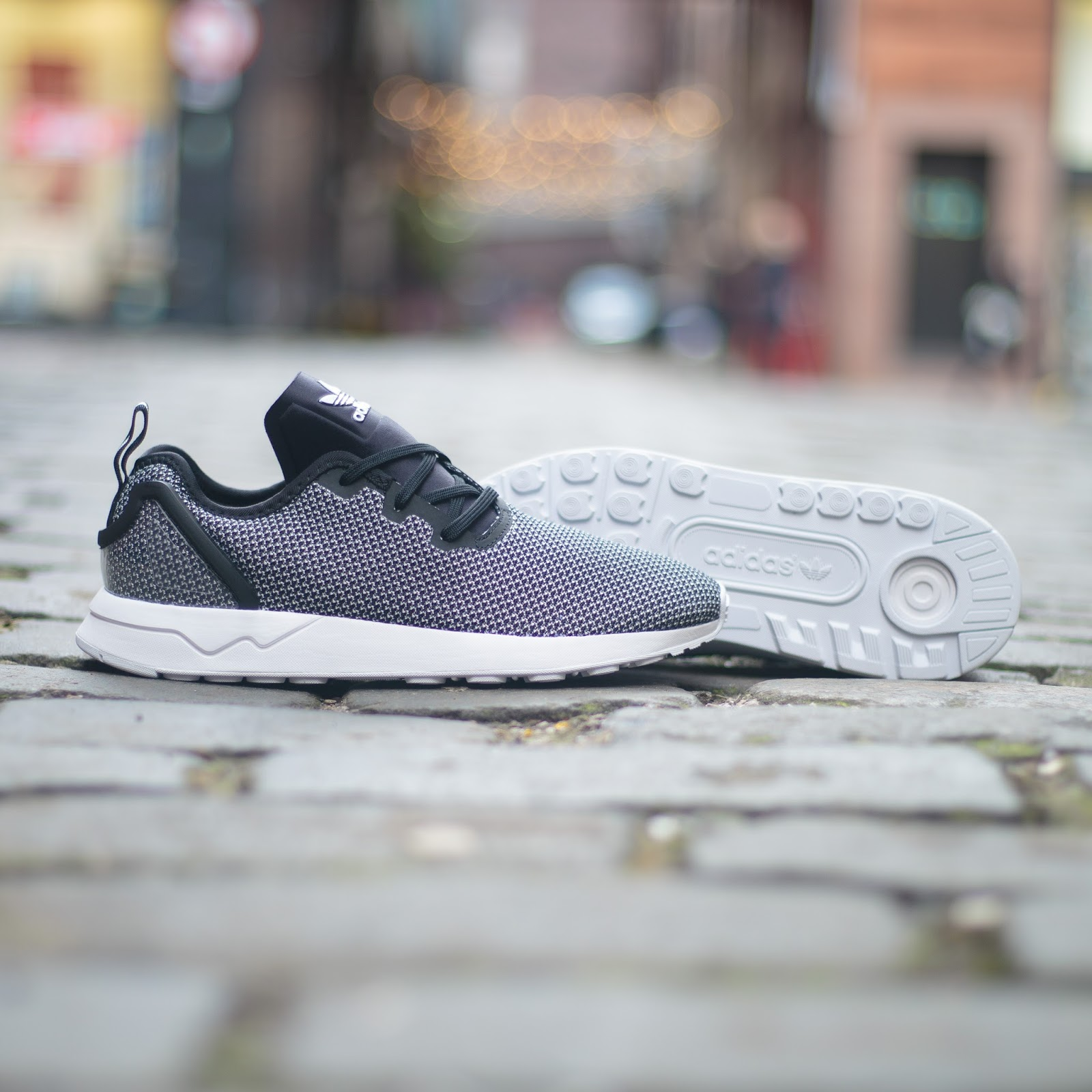 adidas ZX Flux shoes grey white Stylefile