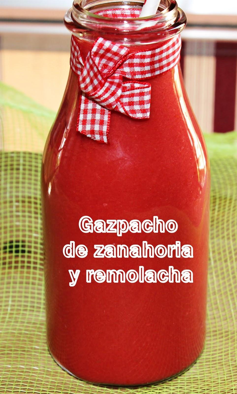 GAZPACHO DE REMOLACHA Y ZANAHORIA {CON THERMOMIX}