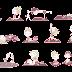 Diseño de personajes para web de yoga