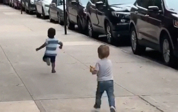Adorable Footage Of Toddlers Hugging Like They Haven't Seen Each Other For Years