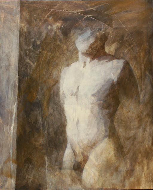 Male Torso - Painting -  Rosemary Marchetta