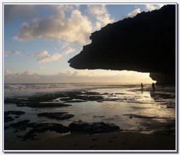 Sunset di pantai seruni Jogja