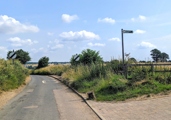 Offley footpath 6 then head SE from Stony Lane