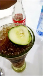 Watch Video: Singer Yemi Alade Receives Coke With Cucumber Inside