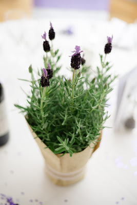 lavender table centrepiece