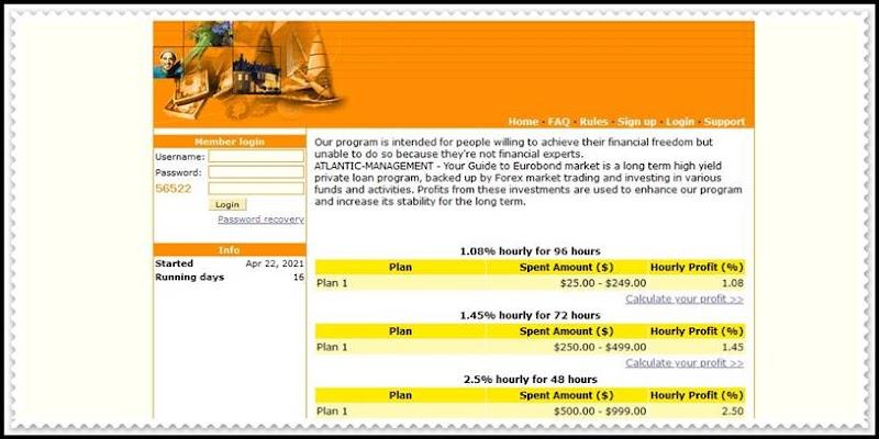 Мошеннический сайт atlantic-management.biz – Отзывы, развод, платит или лохотрон? Мошенники