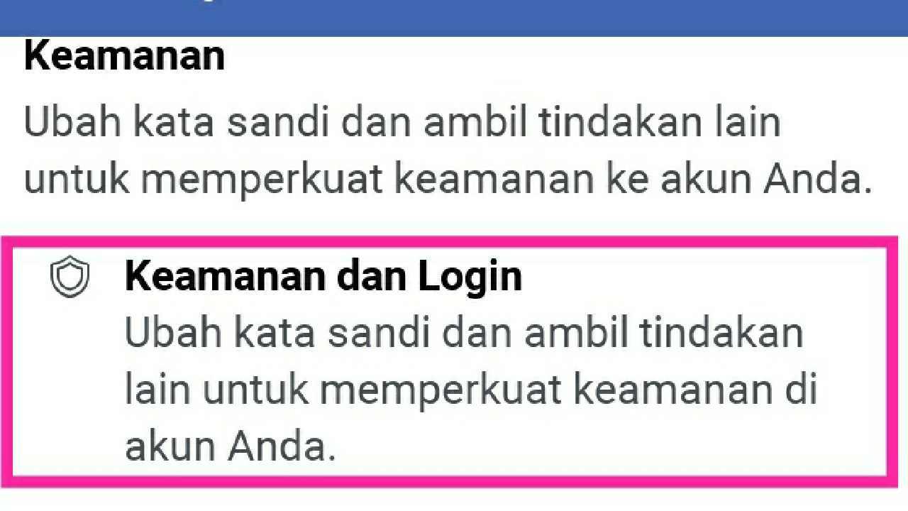 Ubah sandi FB