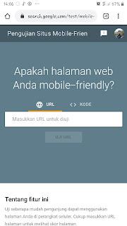 Layanan goigle untuk melihat seberapa layak sehuah website  untuk digunakan dalam mode mobile