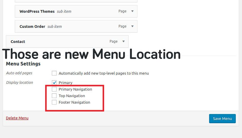 Multiple Menus Location in WordPress