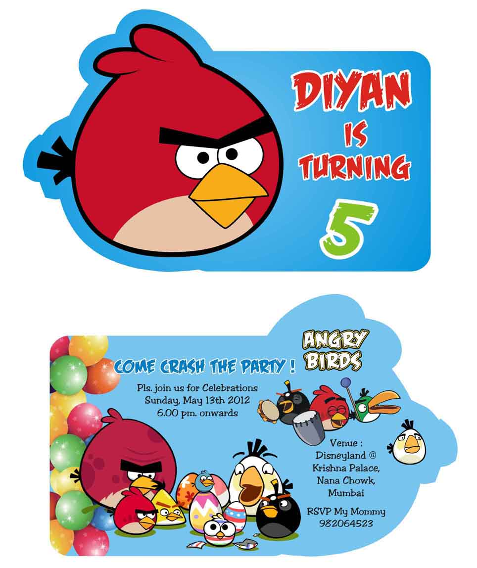 Birthday Party Invitation Card Invite Personalised Return Gifts