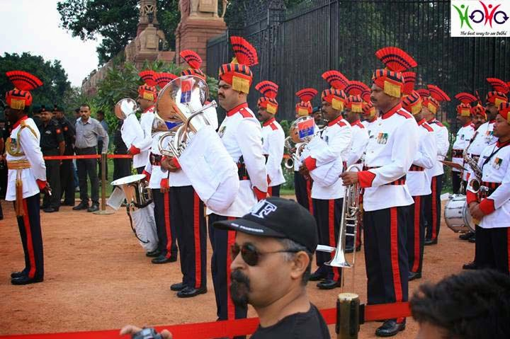 Change of guard ceremony in the President's Estate, Rashtrapati Bhawan