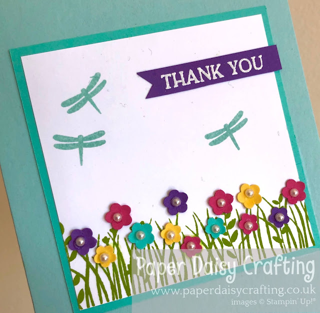 Field of Flowers Stampin Up handmade card
