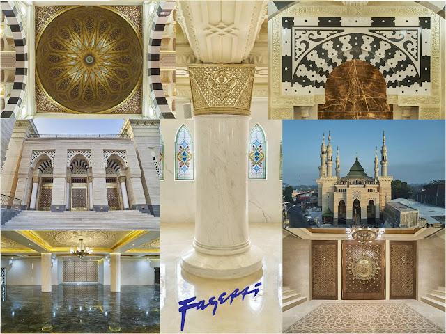 Travertine dan Granit Masjid Suciati Saliman