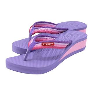 sandal wanita pretty warna ungu