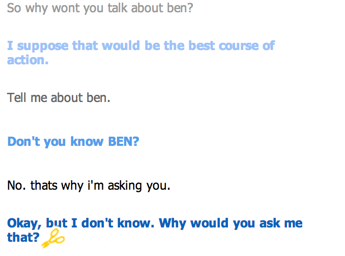 extinction bursts cleverbot ghost