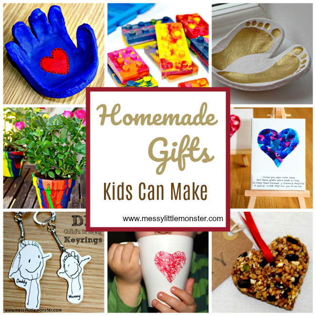 Handmade gifts. Easy handmade gift ideas kids can make.