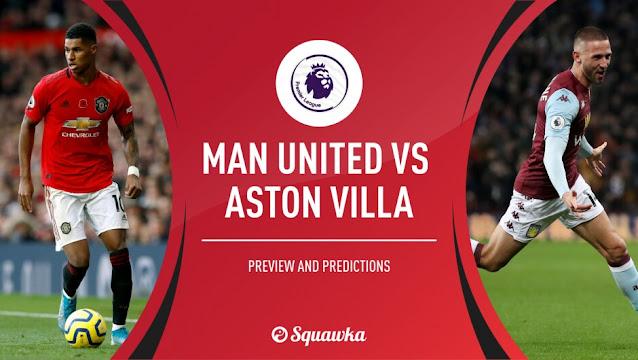 Prediksi Manchester United Vs Aston Villa 2 Januari 2021