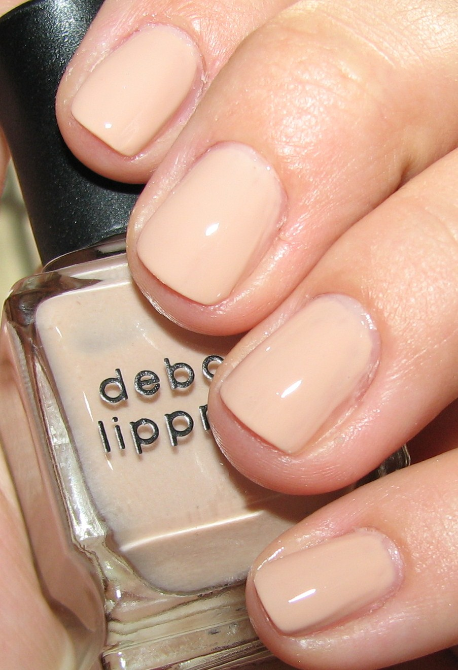 Deborah Lippman NAKED Nail Polish Swatches & Review - Blushing Noir