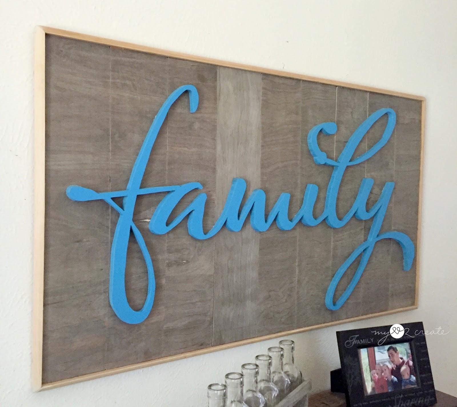 DIY Family Cutout | My Love 2 Create
