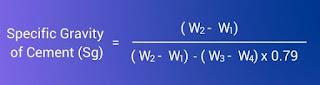معادلة الوزن النوعي للأسمنت