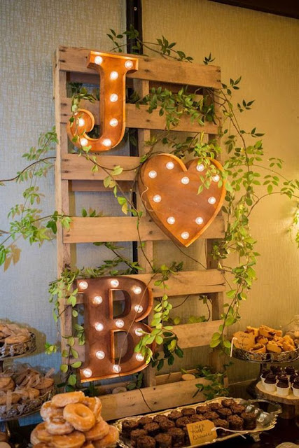 rustic wedding marquee sign