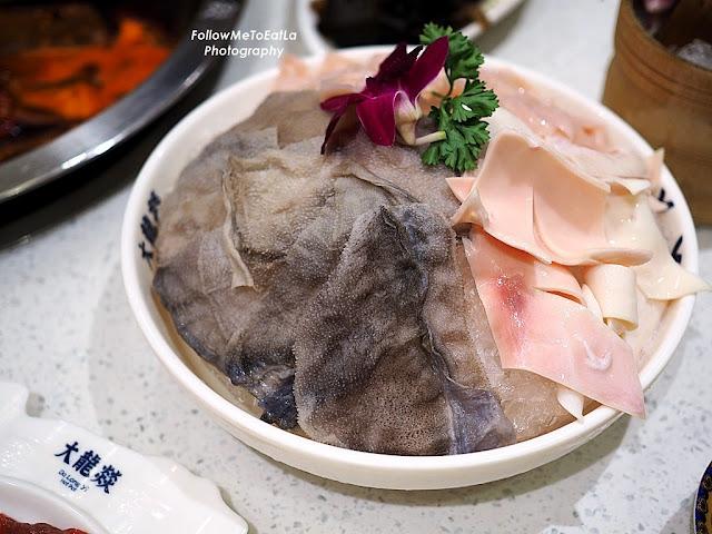 Signature Platter of Beef Tripe, Duck Intestine, Pork Aorta RM 35