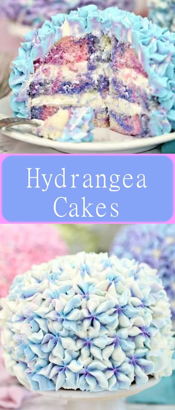 Hydrangea Cakes Recipe #Cake