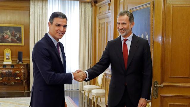 El rey de España propone a Pedro Sánchez como candidato a la investidura