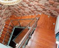papan tangga kayu tanpa sambung