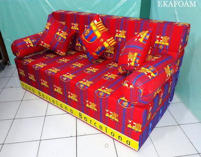 Sofa bed inoac motif Bola barcelona / barca