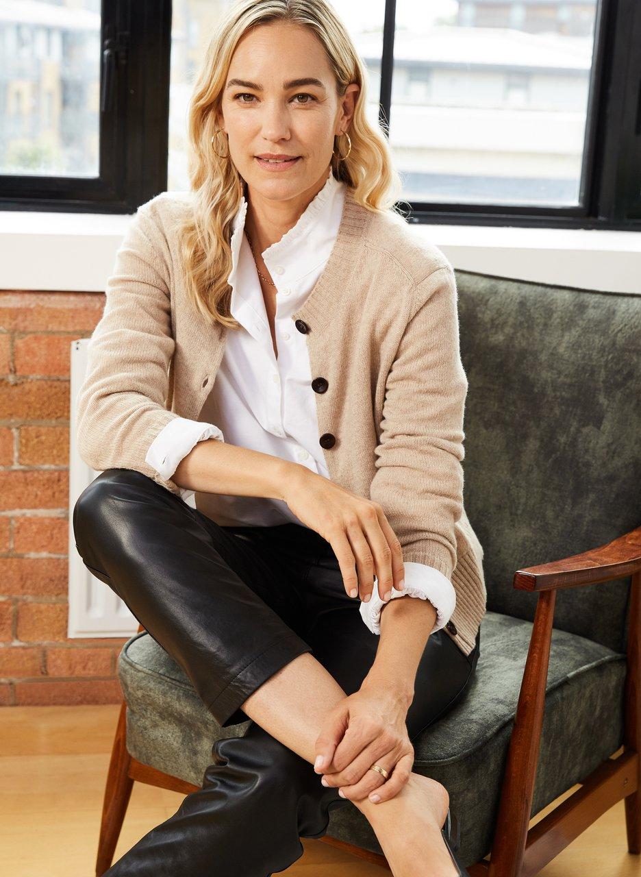 my midlife fashion, Baukjen portia eco cashmere cardigan