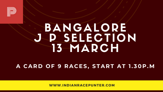 Bangalore Jackpot Selections 13 March