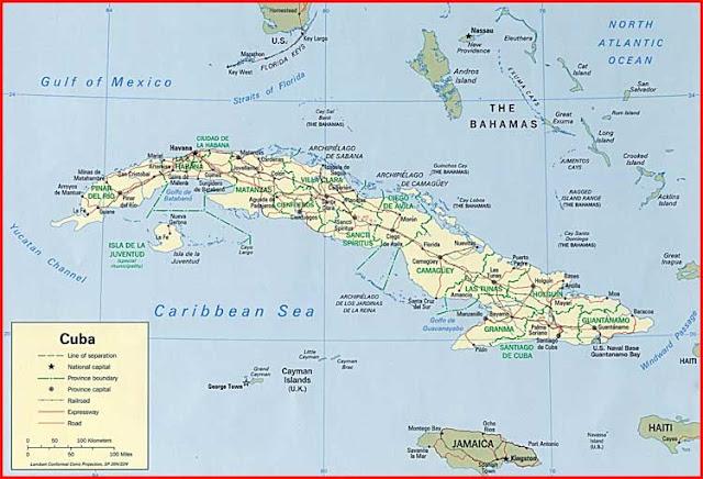 Gambar Peta politik Kuba