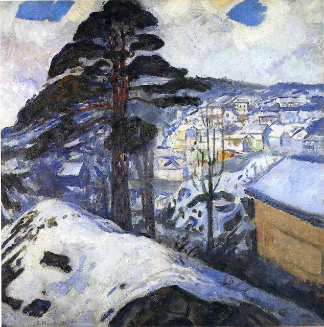 Эдвард Мунк - Зима, Крагеро. 1912