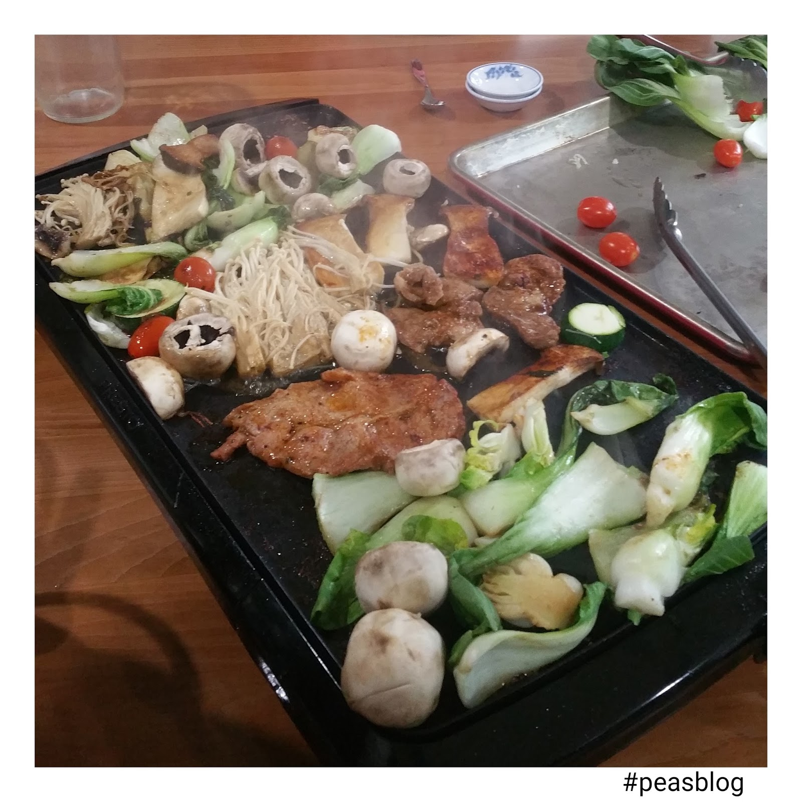 Give peas a chance fusion seen dat lao bbq but seen in lao is meat dat means to sear this method is used to cook meats to wrap in lettuce or rice paper wraps its so yummy forumfinder Image collections