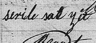 Signature de Nicolas Steryl Sarget en 1854