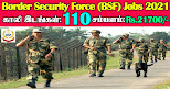 BSF Recruitment 2021 110 SI, ASI & Constable Posts