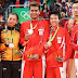Galeri Foto Podium Juara Badminton Olimpiade 2016