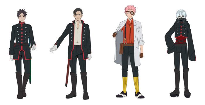 Mars Red anime - personajes