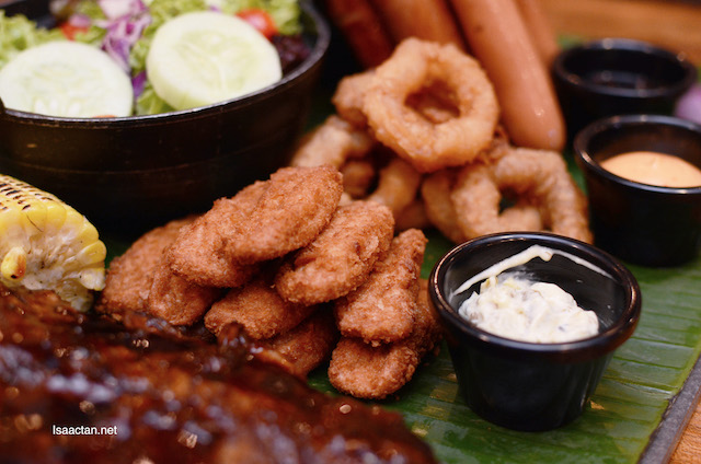 Crispy Fish Fingers and Golden Calamari Rings