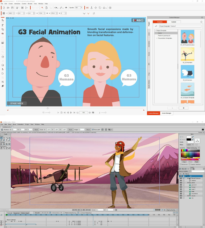 Review: CrazyTalk Animator 3 vs Moho Studio Pro 12