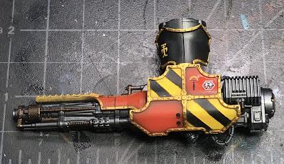 Adeptus Titanicus Legio Ignatum Warlord Titan WIP - left arm Belicosa Volcano Cannon