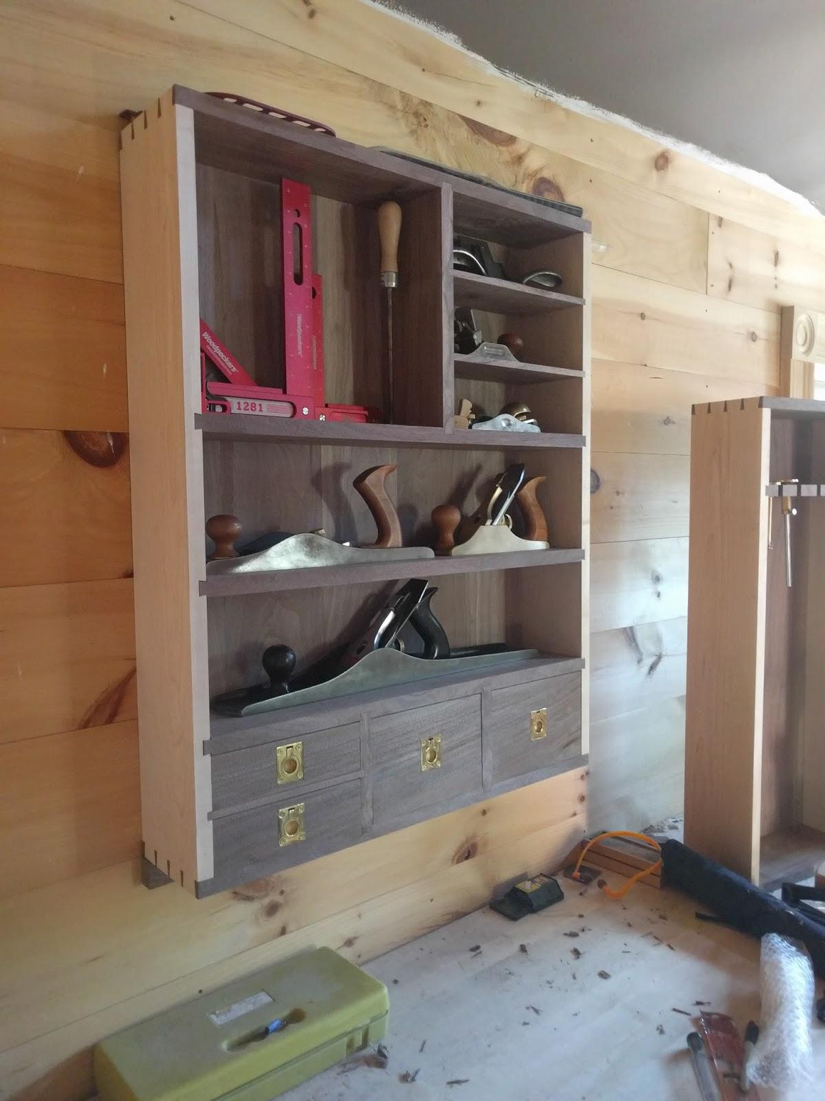 David Barron Furniture Wall Mounted Tool Cabinet