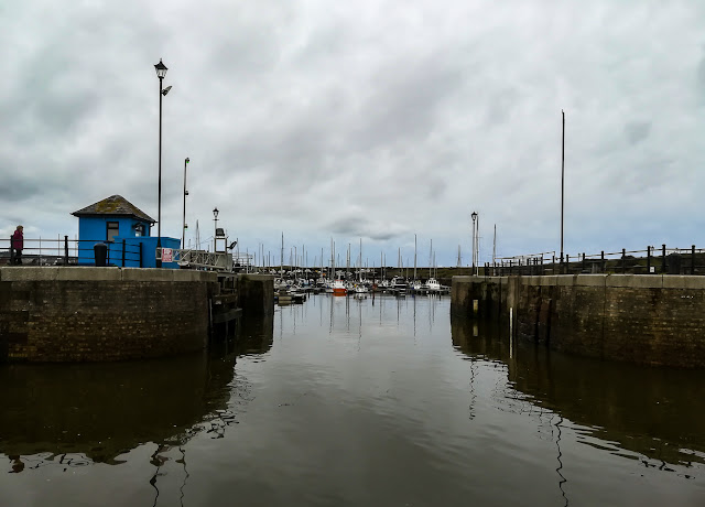 Photo of the entrance to Maryport on our way home
