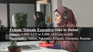 Female Tele Sales Representative Required in Dubai