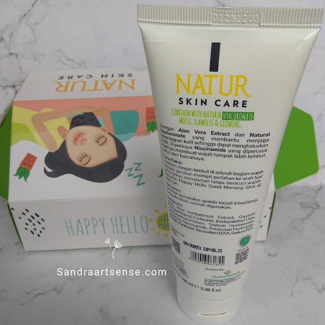 Review NATUR Sleeping Mask Aloe Vera