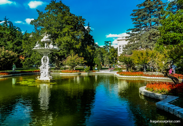 Jardins do Palácio de Dolmabahçe, Istambul