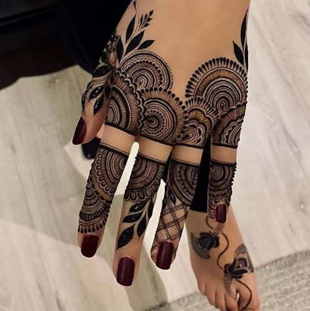 arabic mehndi designs for front hands 2018