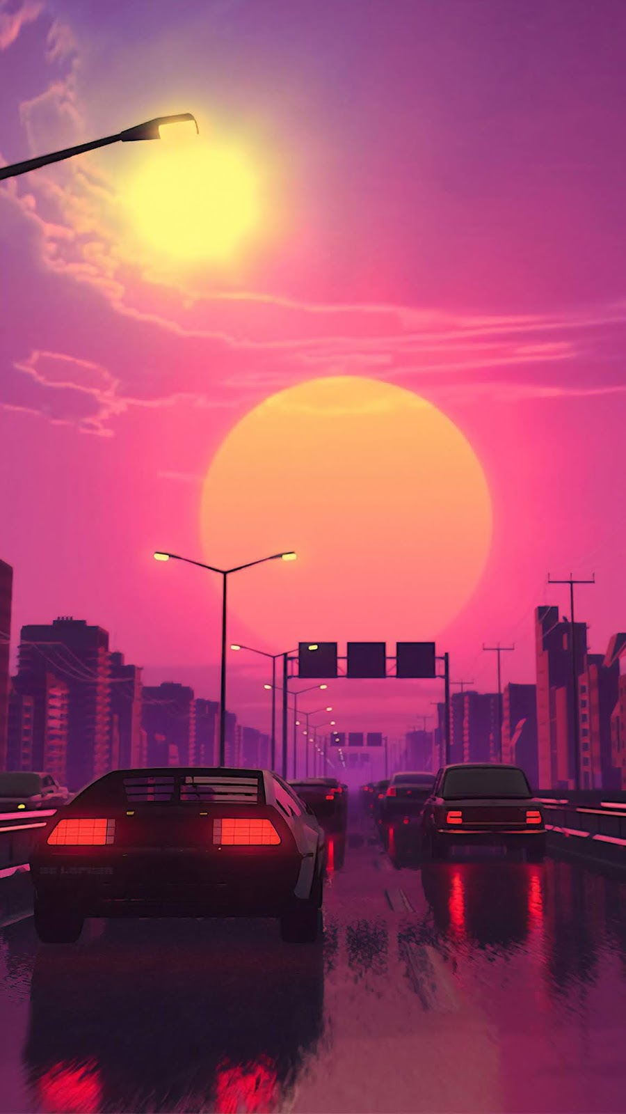 Vaporwave Sunset