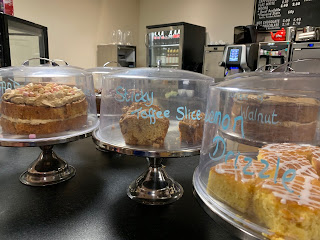 Cakes served at Coffee and Cards